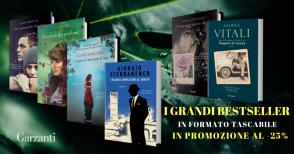 I bestseller tascabili Garzantial -25%fino al 3 marzo